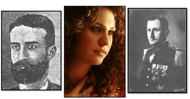 من اليمين إلى اليسار: آرام كارامانوكيان، لينا تشماميان، أديب إسحاق